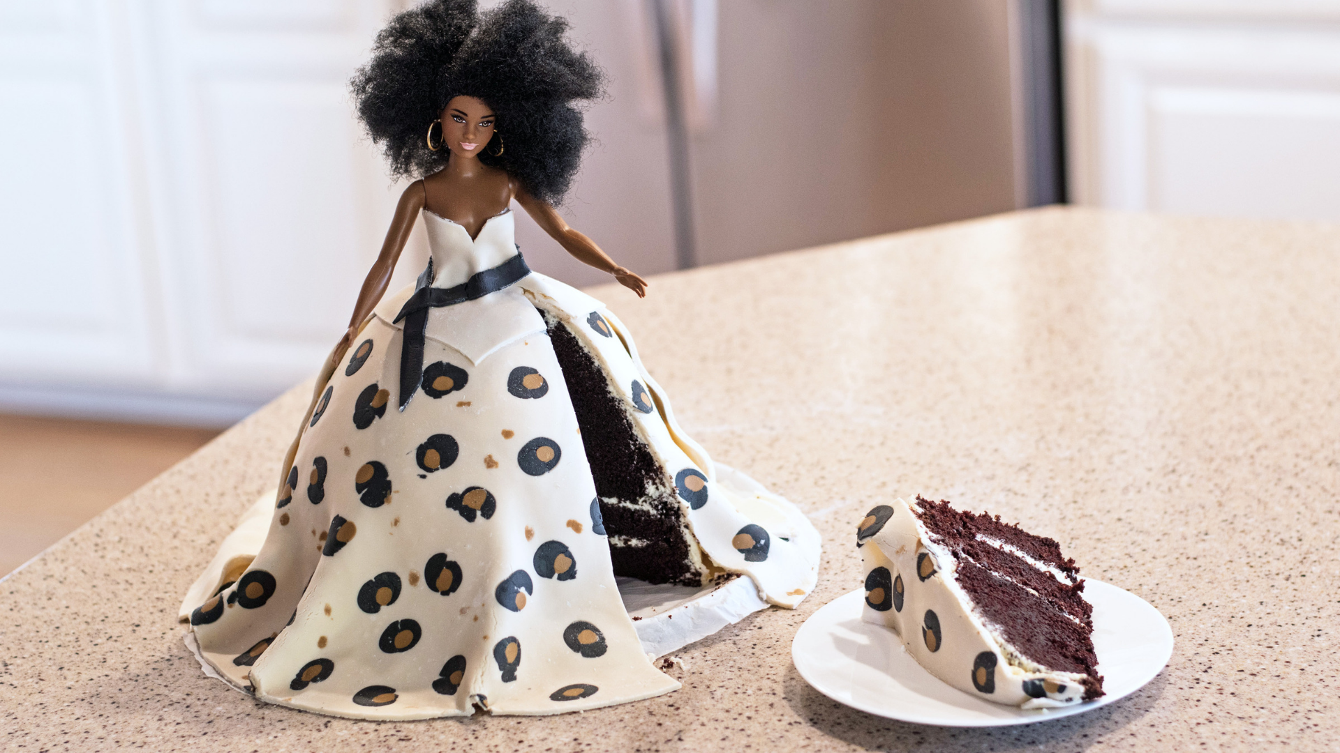 Chocolate Doll Cake With Leopard Print Fondant Occasionally Bake